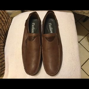Men's Fashion Leather loafers Brown